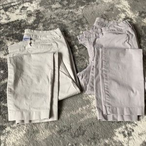 Lot of 2 Pixie cropped chinos